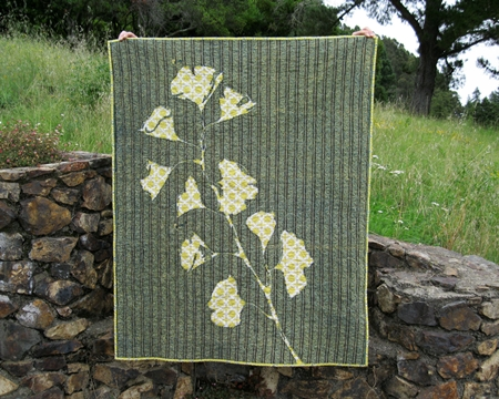 Gingko Stencil Quilt