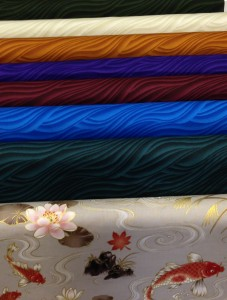 asian waves fabric